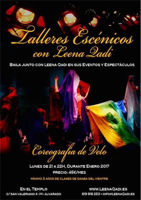 talleres escenicos, clases leena qadi, bailar escenario, coreografia de velo, clases profesionales danza oriental,