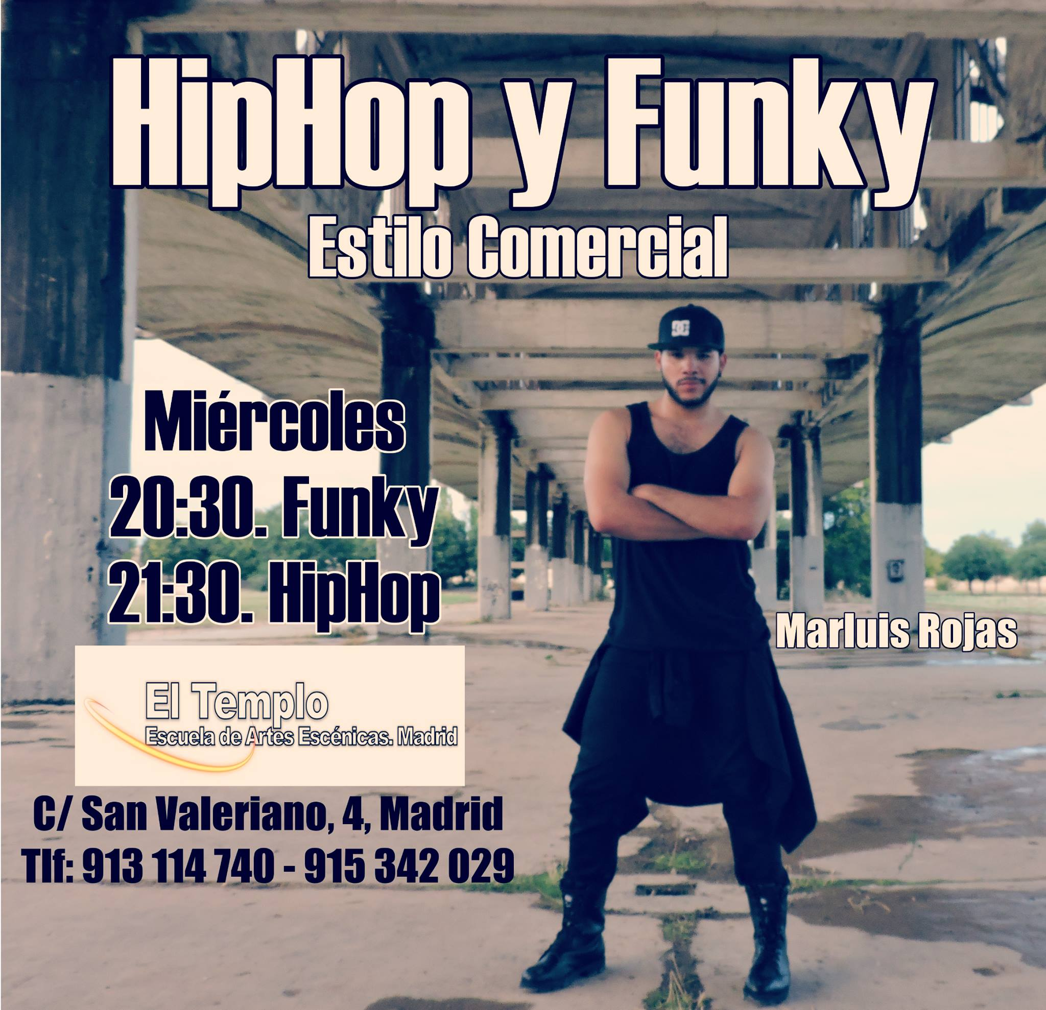 clases funky, clases hip hop, clases comercial dance, clases marluis,