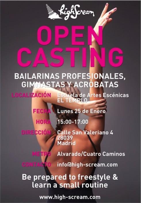 casting bailarines, audicion bailarines