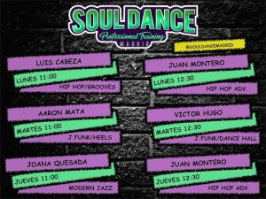 clases juan montero, clases luis cabeza, clases aaron mata, clases joana quesada, clases victor hugo, funky, heels, dance hall, modern dance, hip hop