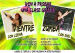 clase gratis danza del vientre, clase gratis zumba, nuevo curso marzo