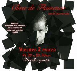 Este viernes, clase de prueba gratuita de Flamenco